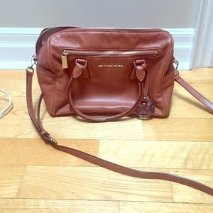 Handbags - MK TAN PURSE WITH SHOULDER STRAP